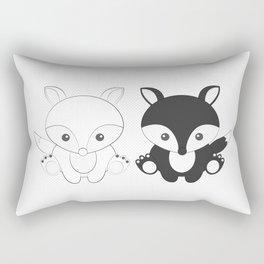 Twins Fox Rectangular Pillow