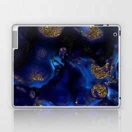 Gold and Indigo Malachite Marble Laptop & iPad Skin