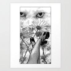 asc 457 - La rêverie interrompue (Torn from her lazy daydreaming) Art Print