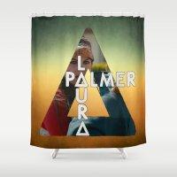 laura palmer Shower Curtains featuring Bastille - Laura Palmer by Thafrayer