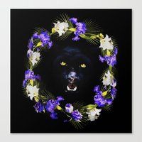givenchy Canvas Prints featuring GIVENCHY Panther by V.F.Store