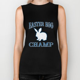 Easter Egg Champ Bunny Pascha Holiday Funny Graphic Biker Tank