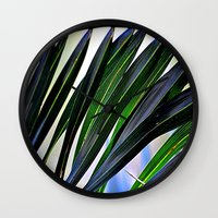 palm Wall Clocks featuring palm by  Agostino Lo Coco