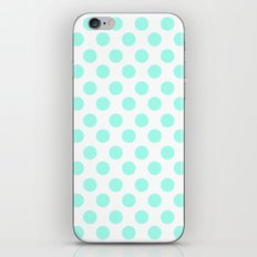 Mint Polka Dots iPhone & iPod Skin