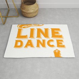 It's Line Dance Time For Line Dancers Cowboy Western Music T-shirt Design Hat Boot Country Music Rug