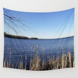 """Incredi-blue"" lake view - Lake Mendota, Madison, WI Wall Tapestry"