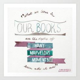 VONNEGUT QUOTE//SLAUGHTERHOUSE-FIVE//MARVELOUS BOOKS Art Print
