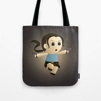lara croft Tote Bags featuring Geek Babies: Lara by Deanna Marie: Art & Design