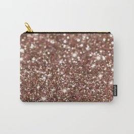 Rose Gold Glitter Carry-All Pouch