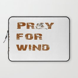 Kitesurfers Pray for Wind Laptop Sleeve