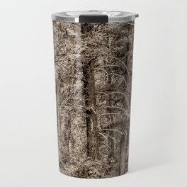 Cabin (Black & White) Travel Mug