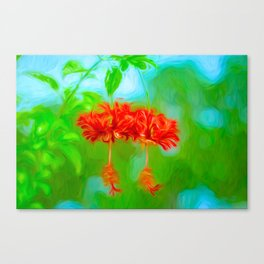 Japanese Lantern Flowers Canvas Print