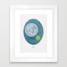 Watercolor Illustration of Haruki Murakami's novel 1Q84 Framed Art Print