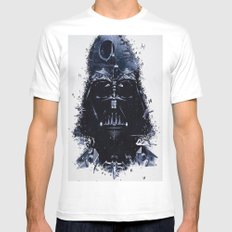 Darth Vader White Mens Fitted Tee MEDIUM