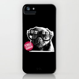 FLORALS FOR SPRING...GROUNDBREAKING - BLACK AND PINK. iPhone Case
