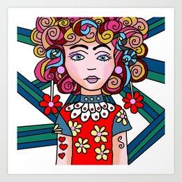 Style Girl - Ruby Art Print