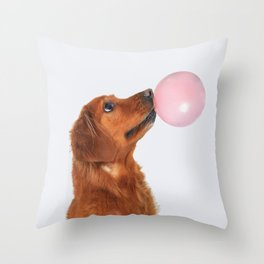 Doggo gum Throw Pillow
