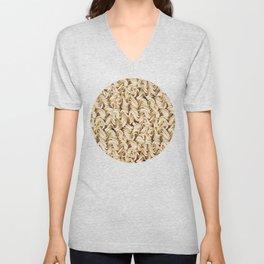Instant Ramen Noodle Pattern Unisex V-Neck