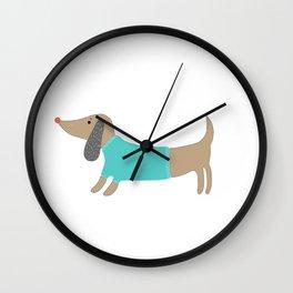 Cute hand drawn doggie Wall Clock