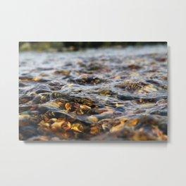 River Pebbles and Currents Metal Print