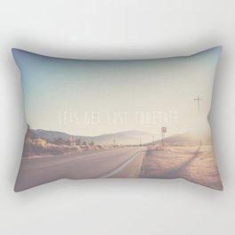 lets get lost together ...  Rectangular Pillow