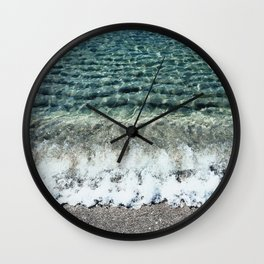 Clear Captiva Waves Wall Clock