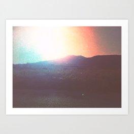 Santorini Sunrise Art Print