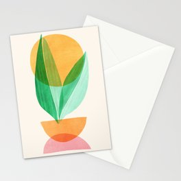 Summer Stack / Abstract Plant Illustration Stationery Cards