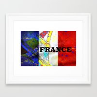france Framed Art Prints featuring FRANCE by Brian Raggatt