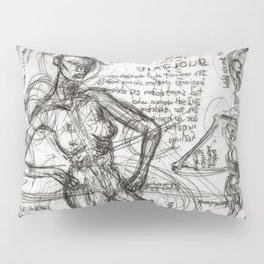 Clone Death - Intaglio / Printmaking Pillow Sham