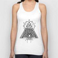 pyramid Tank Tops featuring Pyramid by alesaenzart