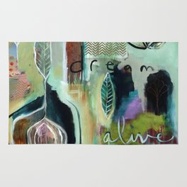 """""""Dream Alive"""" Original Painting by Flora Bowley Rug"""