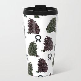 Troll Pattern Metal Travel Mug