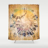 courage Shower Curtains featuring Courage by Jessica Lewis Designs