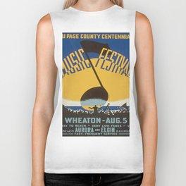 Vintage poster - Du Page County Centennial Music Festival Biker Tank