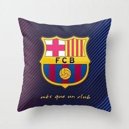 FC Barcelona Throw Pillow
