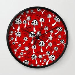 Mushroom 1 Wall Clock