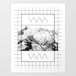 Peak Wavetable Art Print