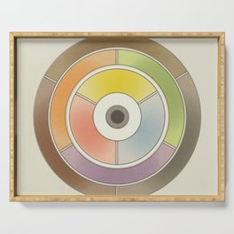The theory of colouring - Diagram of colour by J. Bacon, 1866, Remake, vintage wash (no text) Serving Tray