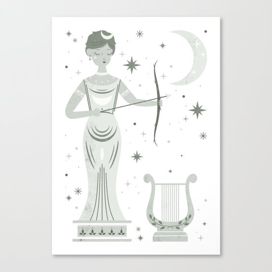 Statue of Artemis  Canvas Print
