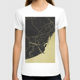 Barcelona Black and Gold Map T-shirt
