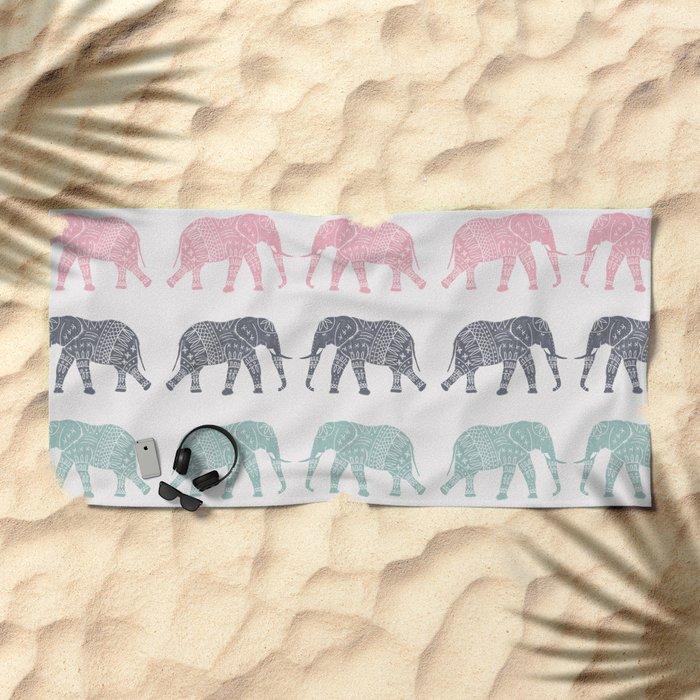 Elephant Pattern Beach Towel