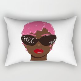Free to Be Red Lips Rectangular Pillow