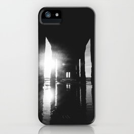 Manhattan Beach Pier in Black and White Photography Print iPhone Case
