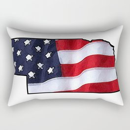 Patriotic Nebraska Rectangular Pillow