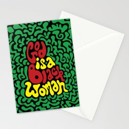 God is a Black Woman Stationery Cards