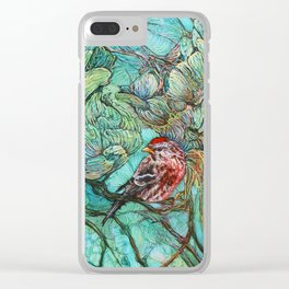 The Aquamarine Labyrinth (detail no. 2) Clear iPhone Case