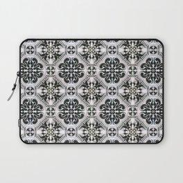 Portuguese Tiles Azulejos Black White Pattern Laptop Sleeve