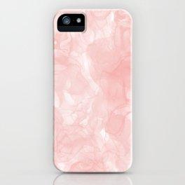 Blush Pink Smoke Abstract iPhone Case