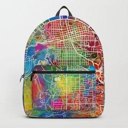 Boulder Colorado City Map Backpack